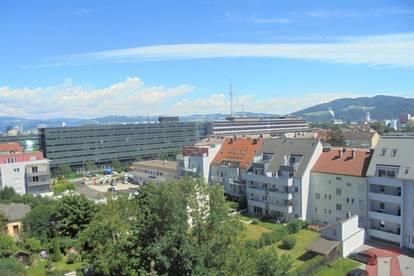 Zentral gelegene Linzer Stadtwohnung mit Fernblick