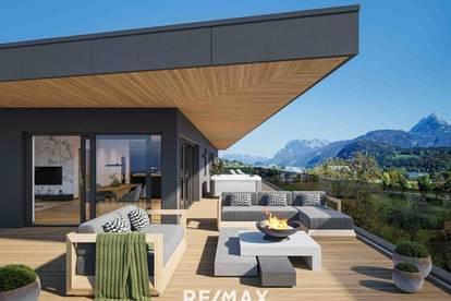 NEUBAU - Luxuspenthouse mit 160 m² Dachterrasse in Langkampfen