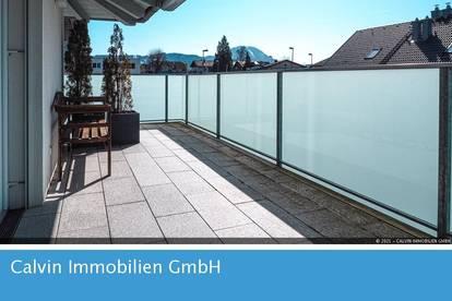 Tolle 3-Zi-Dachterrassenwohnung mit Weitblick im Ortszentrum Elixhausen!