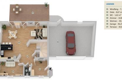 Einfamilienhaus schlüsselfertig mit Keller!
