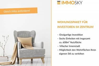 Wohnungspaket für Investoren im Zentrum