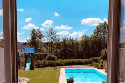 Bezauberndes Eigenheim mit Garten und Pool