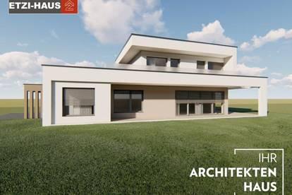 LEOPOLDSDORF bei Wien: Architektenhaus inkl. Grund
