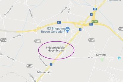 Gewerbegrundstücke im Industriegebiet Hagenbrunn von ca. 5.500 m² bis ca. 59.500 m² zu kaufen