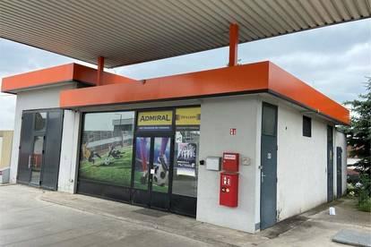 Geschäftslokal/Kleingastronomie bei Automaten-Tankstelle zu mieten