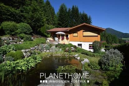 Paradiesisches Ferienhaus mit Pool und Biotop