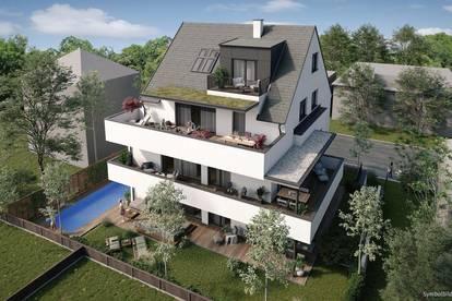Linz-Urfahr - stilvolles Penthouse mit großer südwestseitiger Dachterrasse - Tiefgarage u. Lift