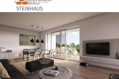 Steinhaus | Bussardstraße - Gartenwohnung - Ziegelmassivbauweise in bewährter Qualität in Niedrigenergiebaustandard