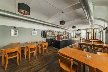 Gut ausgestattetes Gastrolokal mit Gastgarten in guter Lage des 2. Bezirks zu mieten