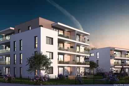 Genial – offene Neubau-Dachterrassenwohnung mit 30m² Dachterrasse in Aussichtslage