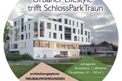 Urbaner Lifestyle trifft SchlossParkTraun - 82m² - Top-17 - die offene