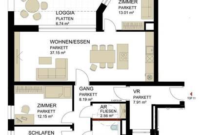Dachterrassenwohnung in Traun / Zentrum