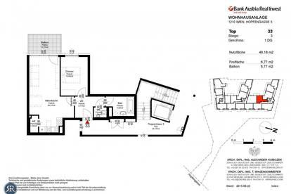 2-Zimmer im 1. DG mit Balkon, Süd-Lage - Top 333 - Bezug: ab sofort