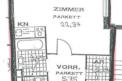 attraktive 35m² Singlewohnung im 4,. Nähe Taubstummengasse