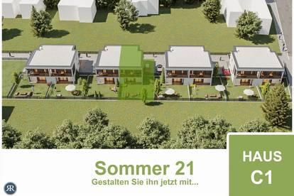 NEUBAU / 4-Zimmer Doppelhaushälfte mit Balkonen, Terrasse und Garten / Provisionfrei / Haus C1