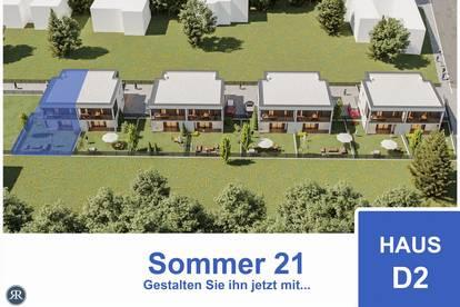 NEUBAU / 4-Zimmer Doppelhaushälfte mit Balkonen, Terrasse und Garten / Provisionfrei / Haus D2