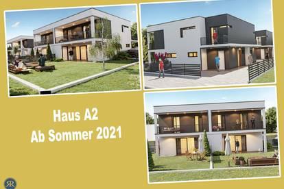 4-Zimmer Doppelhaushälfte in Ziegelmassivbauweise mit Balkonen, Terrasse und Garten / ab Sommer 2021 / Haus A2