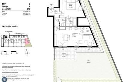 2-Zi mit Garten und Terrasse im EG - Erstbezug ab sofort - TOP 106