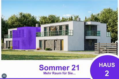 6-Zimmer Doppelhaushälfte in Ziegelmassivbauweise, vollunterkellert, mit Balkonen, Terrasse und Garten / ab Sommer 2021 / Haus 2
