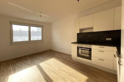 Provisionsfrei! U1 Kagraner Platz: Helle 1-Zimmer Wohnung mit Schlafnische und großer Gemeinschaftsterrasse
