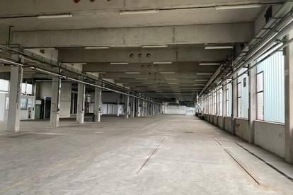 Produktions-Lagerhalle von 3.500m² bis ca. 7800m² mit 5x Laderampen.