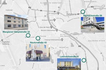 Anlagepaket Gschäftslokale, voll vermietet, Stadt Salzburg
