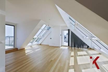 Mit dem Privatlift ins Wohnvergnügen! 100 m² Rundumterrassen mit Fernblick!