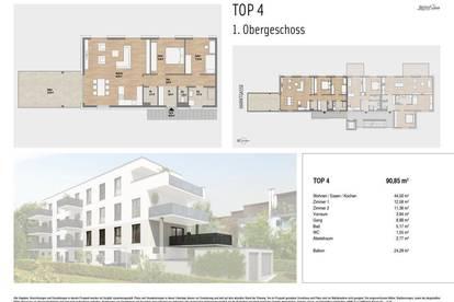 Wohnen mit Stil in Waltendorf | 90m² Erstbezug mit großem Balkon in ruhiger Wohnumgebung - ab 2022
