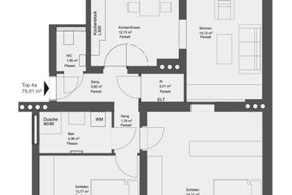 Ab Oktober | Helle 80 m² Mietwohnung - nur wenige Minuten zum Augarten ! Sehr gute Infrastruktur & öff. Anbindung!
