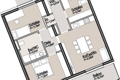 Moderne, helle 70m² Wohnung in toller Stadtlage inkl. Küche, Balkon und Parkplatz | top Anbindung & Infrastruktur - ab 1. August 2020 frei!