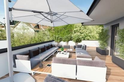 Exklusives Penthouse mit 92m² und herrlicher, großer Sonnenterrasse in Grazer Premiumbezirk St. Peter