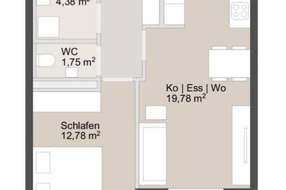 Hübsche Neubauwohnung inkl. moderner Küche + Loggia in toller Lage   ab sofort zu mieten!