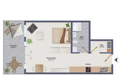 Erstbezug - 2-Zimmerwohnung in Zentrumsrandlage in Wörgl