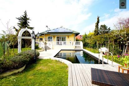 Top gepflegtes und modernisiertes Einfamilienhaus am Ende einer Sackgasse mit Bio Pool beim Schlosspark Schönau! Schneeberg Blick!