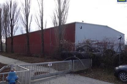 BETRIEBSOBJEKT mit Halle, Büro und ca. 3.000 m² Freifläche
