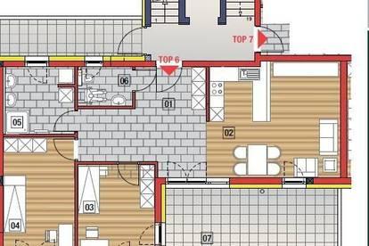 Traumhafte Penthousewohnung in bester Lage in Perg, mit Blick in die Alpenwelt