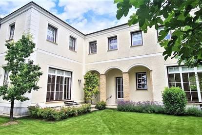 ASPERN-ZENTRUM, topgepflegtes 211 m2 Einfamilienhaus mit ca. 144 m2 Terrasse/Garten, 5 Zimmer, Komplettküche, 3 Bäder, Wohnkeller;