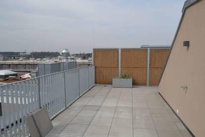PROVISIONSFREI! DACHGESCHOSS! Erstbezug, klimatisiertes 116 m2 Dachgeschoß mit 93 m2 Terrasse, 4 Zimmer, Komplettküche, 2 Bäder; exclusive Ausstattung, Fernblick!
