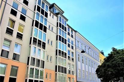 SINGLEHIT! PANTZERGASSE! sonnige 39 m2 Neubau-Garconniere, Einzelwohnraum mit Kochnische, Wannenbad, Parketten; 3. Liftstock