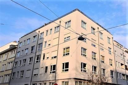 VOGTGASSE! RUHELAGE! 37 m² Neubau mit 10 m² Terrasse/Garten, Einzelwohnraum mit Schlafnische, Komplettküche, Wannenbad