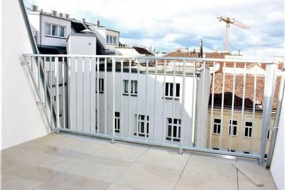 DACHGESCHOSS! ERSTBEZUG! klimatisierte 103 m2 Dachgeschoß-Maisonette mit 19 m2 Terrassen, 4 Zimmer, Komplettküche, 2 Bäder