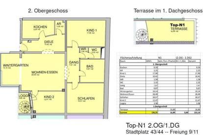 Schöne Familienwohnung mitten in Wels - Gortana Passage Whg. N1/2.OG