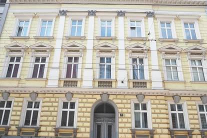 Nähe Landstraße! 86 m² Altbau-Büro oder Praxis im Hochparterre, 3 Räume, Teeküche, WC; nähe Musiktheater, Bahnhof, Straßenbahn!