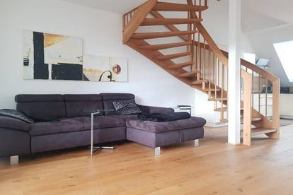 Alturfahr, sonnige neue Dachgeschoß-Maisonette, 124 m² WNFL + 20 m² Dachterrasse/Balkon, Küche möbliert, Tiefgarage!