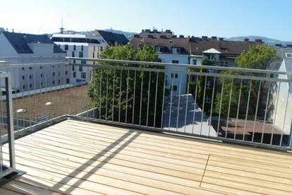 Bürgerstraße: Attraktive, zentrumsnahe Maisonetten-DG-Wohnung, 3 Zimmer, Terrasse + Balkon, WNFL 94,20m2