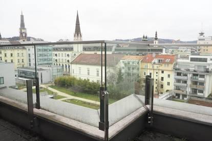 Palais Bismarck! Exklusive 4-Zimmer-Maisonette mit Balkon und Dachterrassen im Herzen von Linz,134 m² WNFL, Top 17