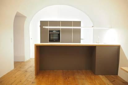 Ottensheim Zentrum mit Donaublick! Architektonisches Unikat! 82 m² WNFL, Küche inkl. Geräte möbliert! Mietvertrag unbefristet!