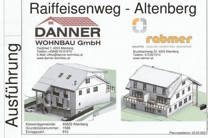 Gartenwohnung in Altenberg Zentrum! 127 m² WNFL + 40 m² Terrasse + ca. 120 m² Eigengarten, Garage + Freiparkplatz! Erstbezug!