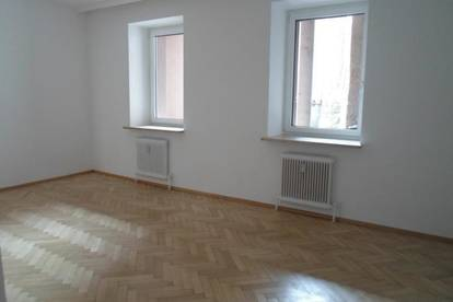 Bürgerstraße: Einfache zentrumsnahe 2 -Zimmerwohnung, 48,88m2 WNFL, ablösefreie Küche, Erdgeschoß