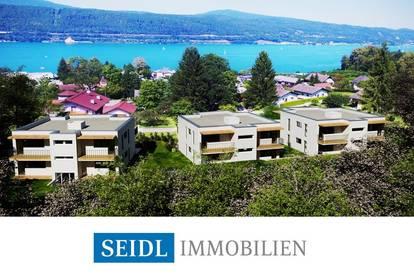 """""""AZURBLAU"""" - Dachgeschosswohnung mit Seeblick und Bademöglichkeit"""